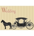 Vintage horse carriage vector image vector image