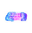watercolor brush stroke vector image vector image