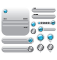 Web elements set icon vector image vector image