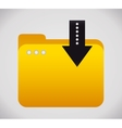 Yellow folder File design graphic vector image vector image