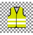 yellow vest as a symbol protests in france vector image vector image