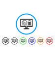 radar battery control monitor rounded icon vector image