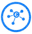 euro payments rounded icon rubber stamp vector image