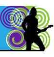 Singer playing guitar vector image