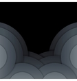 Abstract dark grey paper circles background vector image vector image