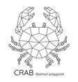 Abstract polygonal geometric crab