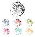 Abstract technology circles set vector image vector image
