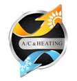 air conditioner and heating for business vector image