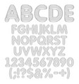 alphabet letters numbers from round layers vector image vector image