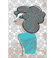beautiful woman in retro style vector image
