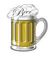 Beer in vintage engraving style vector image vector image