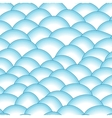 Blue retro fish scales seamless pattern vector image vector image