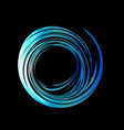 blue waves in black background vector image
