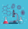 chemistry science poster icon vector image