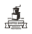 coffee house emblem template design element for vector image vector image