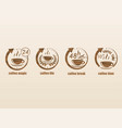 coffee time symbols set vector image