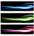 Collection speed flow abstract swoosh futuristic vector image vector image