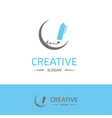 company logo and typography with elegent design vector image vector image