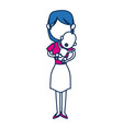cute mom holding baby lovely image vector image