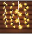 decorative christmas lights vector image vector image