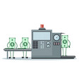design of money production line vector image vector image