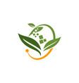 digital ecology logo design template vector image