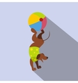 dog ball balancing act icon