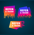 doodle speech bubbles with refer a friend message vector image vector image