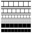 Film strips stamps and photo negatives set