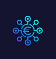 financial diversification icon with euro vector image vector image