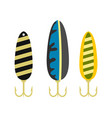 fishing lure icon flat style vector image vector image