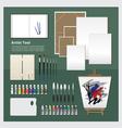 Flat Design Artist Tool vector image