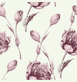 floral seamless pattern vintage style pink roses vector image vector image