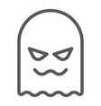 ghost line icon horror and character horror sign vector image vector image