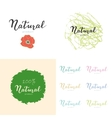 Hand drawn posters and stickers with eco quote vector image