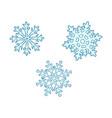 hand drawn set cute blue snowflakes vector image vector image