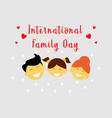 happy international family day logo vector image vector image