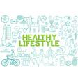 Healthy lifestyle icon set vector image vector image