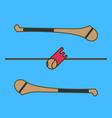hurling game irish hurling hurley and vector image