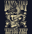 ink and art tattoo fest poster vector image vector image