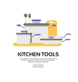 Kitchen tools collection vector image