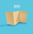 kraft brochure design isolated on bluerealistic vector image vector image