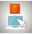 laptop arrow app icon vector image vector image