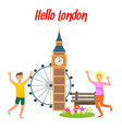 london travel postcard poster template with text vector image