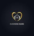 love home real estate gold logo vector image vector image