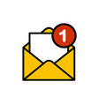 mail flat icon sign symbol vector image