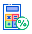 math calculator for calculations icon vector image