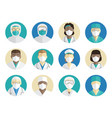 medical avatars set doctors surgeons and nurses vector image