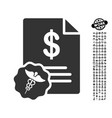 medical prices icon with professional bonus vector image vector image