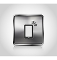 Metal icon smartphone wireless connection